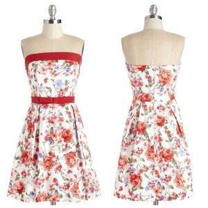 ModCloth Right on Timeless Dress in Garden